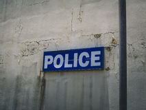Saint Martin Police Department Sign Royalty Free Stock Photo