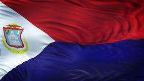 SAINT MARTIN Realistic Waving Flag Background Image stock