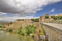 Saint Martin`s bridge in Toledo, Spain Stock Images