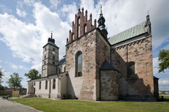 Saint Martin's Church in Opatow, Poland Royalty Free Stock Photos