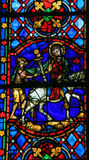 Saint Martin - Stained Glass in Tours Cathedral Royalty Free Stock Images