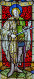 Saint Martin Stained Glass window Stock Image
