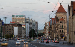 Saint Martin street in Poznan Royalty Free Stock Photos