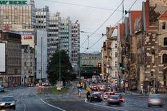 Saint Martin street in Poznan Stock Photos