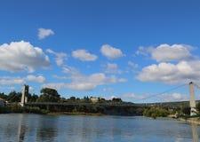Saint Martin Suspension Bridge in Ardeche , France Stock Photo
