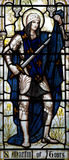 Saint Martin of Tours in stained glass. A photo of Saint Martin of Tours in stained glass Royalty Free Stock Image