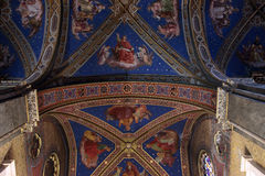 Saint Mary above Minerva interior. Detail of the ceiling in Santa Maria sopra Minerva, Rome Royalty Free Stock Images
