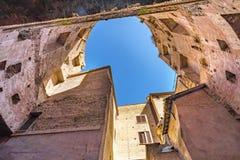 Saint Mary Angels Church Rome Italy dos banhos de Diocletian do pátio imagens de stock