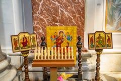 Saint Mary Angels da basílica da capela dos ícones e mártir Roma Itália foto de stock