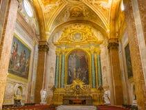 Saint Mary Angels da basílica da capela e mártir Roma Itália imagens de stock royalty free