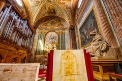 Saint Mary Angels da basílica de Sudarium e mártir Roma Itália imagens de stock royalty free