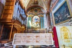 Saint Mary Angels da basílica de Turin Sudarium da saia e mártir Roma Itália fotografia de stock