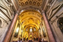 Saint Mary Angels da basílica do altar e mártir Roma Itália fotos de stock