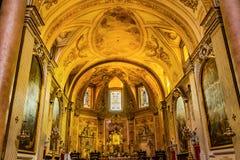 Saint Mary Angels da basílica do vitral do altar e mártir Roma Itália fotografia de stock royalty free