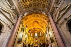 Saint Mary Angels da bas?lica do altar e m?rtir Roma It?lia fotografia de stock