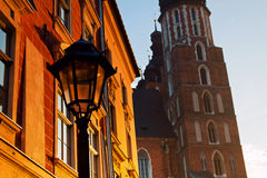 Saint Mary Basilica in Krakow Royalty Free Stock Photos