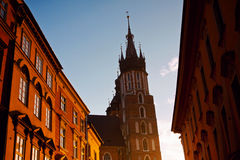 Saint Mary Basilica in Krakow Stock Image