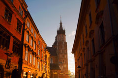 Saint Mary Basilica in Krakow Royalty Free Stock Photo