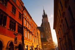 Saint Mary Basilica in Krakow Royalty Free Stock Photos