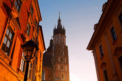 Saint Mary Basilica in Krakow Royalty Free Stock Images