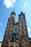 Saint Mary Basilica in Krakow Stock Photos