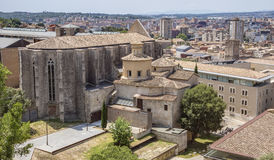 Saint Mary Cathedral em Girona Fotos de Stock Royalty Free