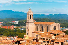 Saint Mary Cathedral in Girona, Catalonia, Spain stock image