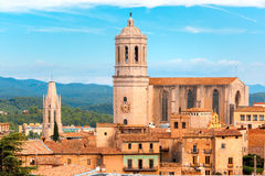 Saint Mary Cathedral in Girona, Catalonia, Spain Royalty Free Stock Images