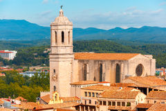 Saint Mary Cathedral in Girona, Catalonia, Spain Royalty Free Stock Image