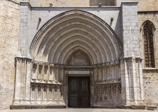 Saint Mary Cathedral in Girona Stock Photos