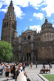 Saint Mary Cathedral, May 10, 2013, Toledo, Spain. Old town of Toledo, former capital city of Spain Stock Photos