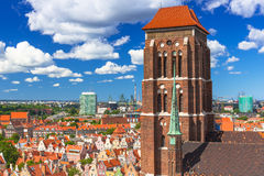 Saint Mary Cathedral in the old town of Gdansk Stock Photo