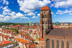 Saint Mary Cathedral in the old town of Gdansk Royalty Free Stock Photo