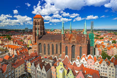 Saint Mary Cathedral in the old town of Gdansk Royalty Free Stock Images
