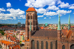 Saint Mary Cathedral in the old town of Gdansk Stock Photography
