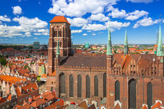 Saint Mary Cathedral in the old town of Gdansk Stock Image