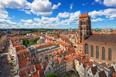 Saint Mary Cathedral in the old town of Gdansk Stock Images