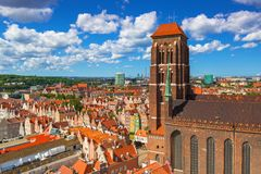 Saint Mary Cathedral in the old town of Gdansk. Poland Stock Photo