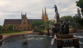 Saint Mary cathedral in Sydney Stock Image