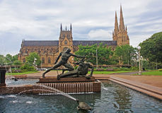 Saint Mary cathedral in Sydney Stock Photography