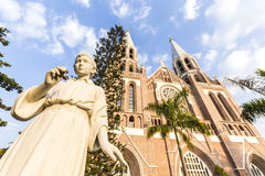 Saint mary cathedral. Yangon. royalty free stock photography