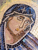 Saint Mary christian mosaic. Royalty Free Stock Images