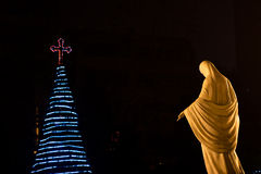 Saint Mary and the Christmas Tree Royalty Free Stock Photo