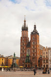 Saint Mary church at Old market square in Krakow, Poland Royalty Free Stock Photos