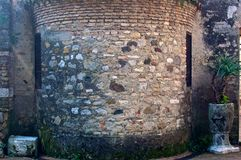 Saint Mary church wall, Sirmione, Italy. Stock Photography