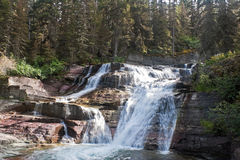 Saint Mary Falls, Glacier National Park Stock Image