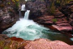 Saint Mary Falls - Glacier NP Stock Photos