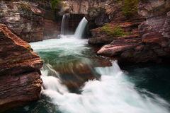 Saint Mary Falls - Montana. Turbulent waters of Saint Mary Falls at Glacier National Park - Montana Stock Photography