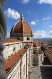 Saint Mary of the Flower dome, Florence landmark, viewed from Gi Stock Photos