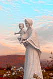 Saint Mary with Jesus. Statue outside of Apollinaris church in Remagen, Germany Royalty Free Stock Image